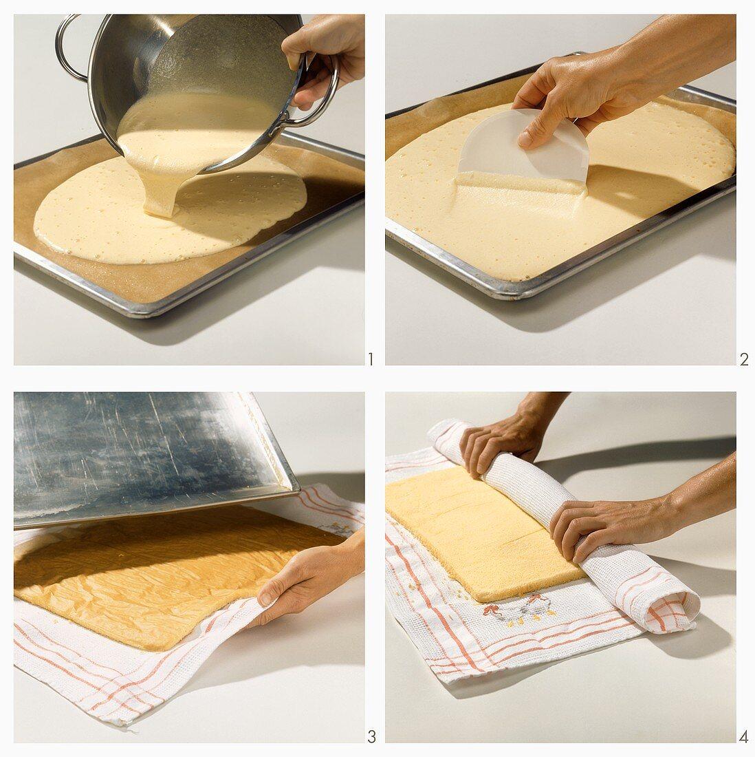 Making fatless sponge mixture