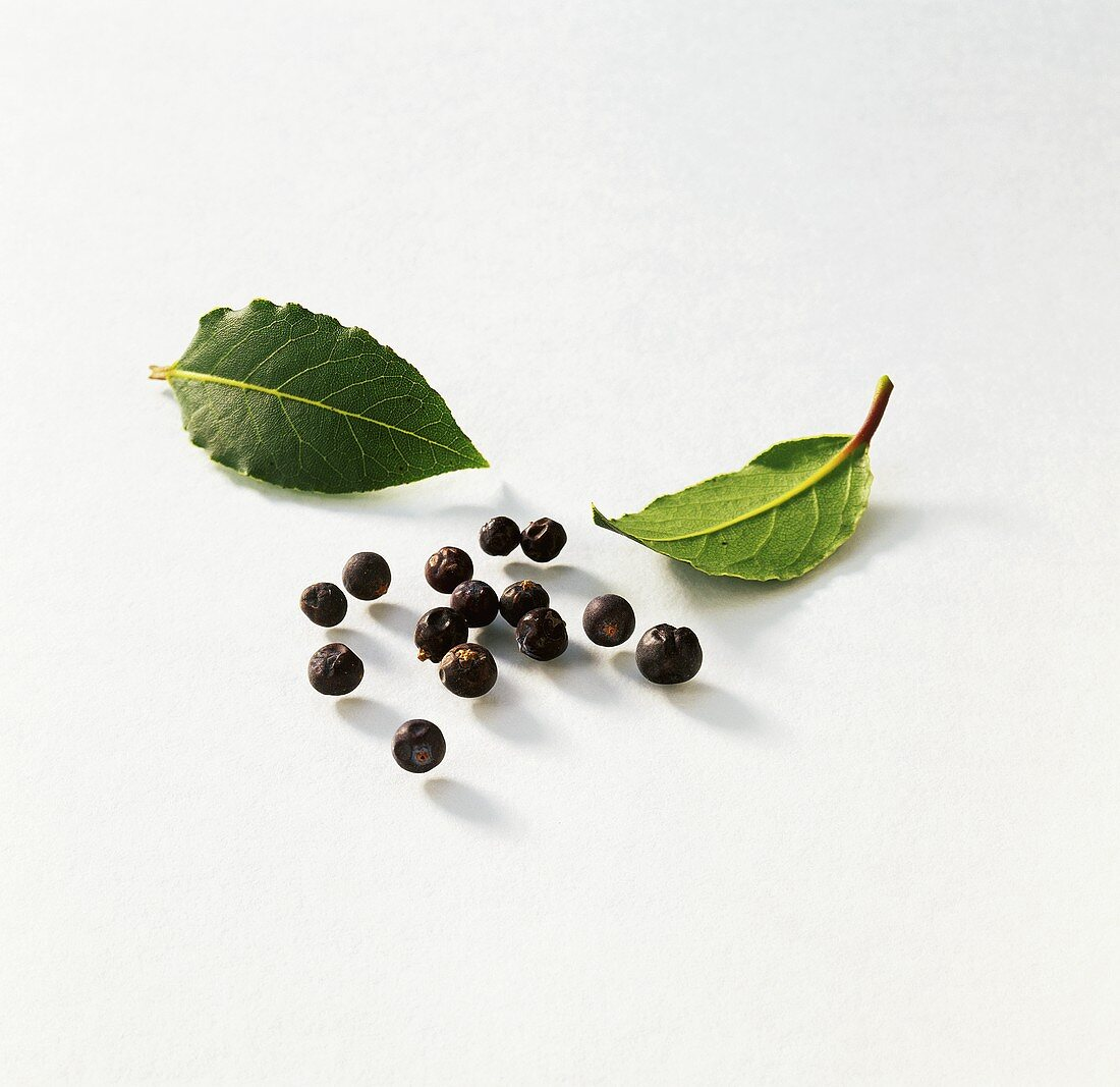 Bay leaves and juniper berries