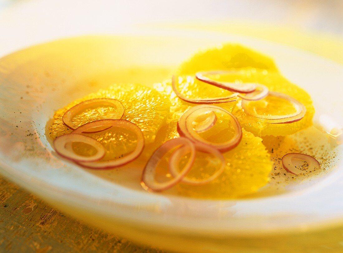 Insalata di arance (orange salad with onions, Italy)