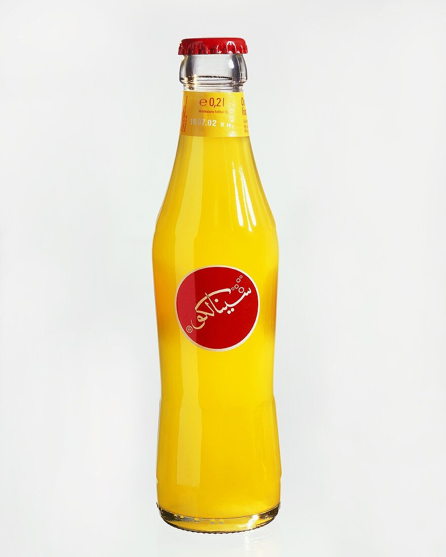 Sinalco bottle with Arabic label