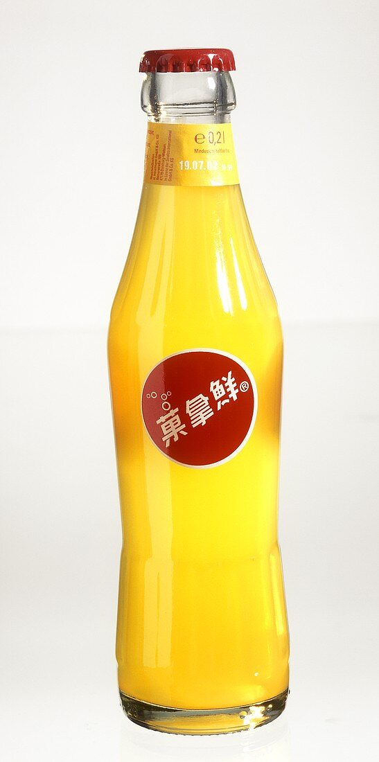 Sinalco bottle with Chinese label