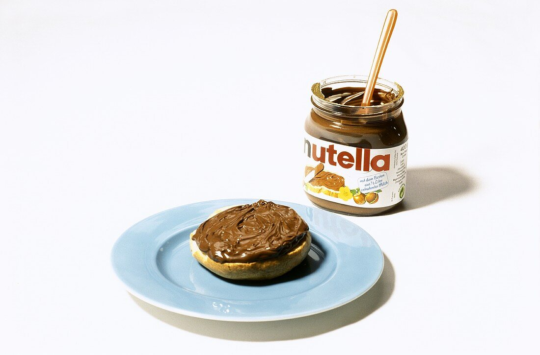 Bread roll with Nutella