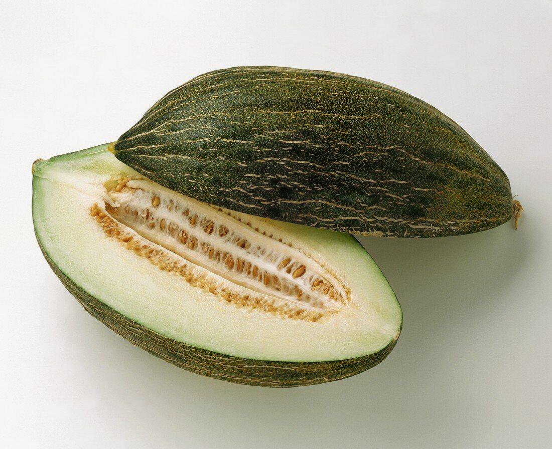 Future melon, halved