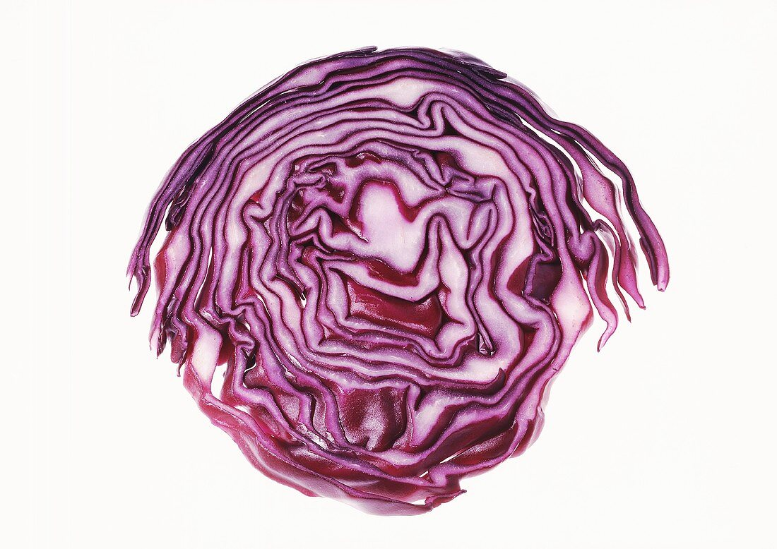 Red cabbage, cut in half crosswise