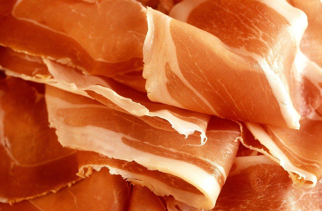 Thinly-sliced air-dried ham