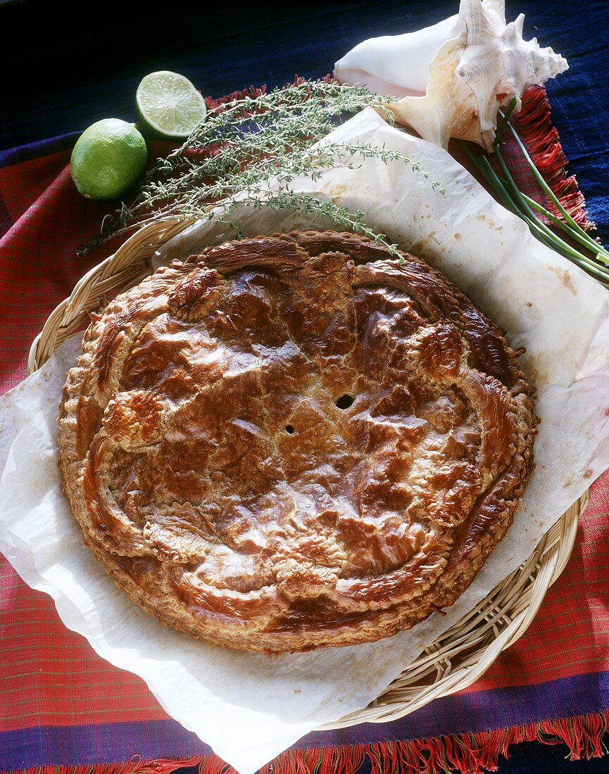 Puff pastry pie from the Antilles