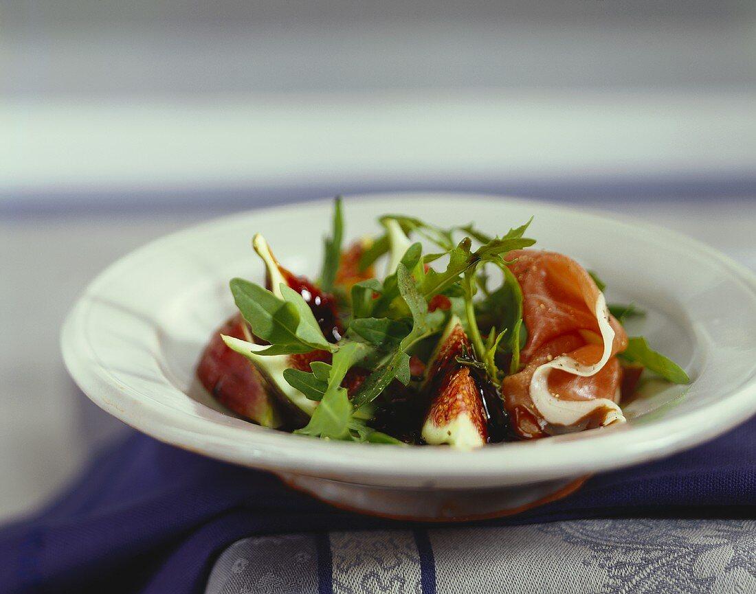 Prosciutto e fichi al balsamico (Appetiser with balsamic vinegar)