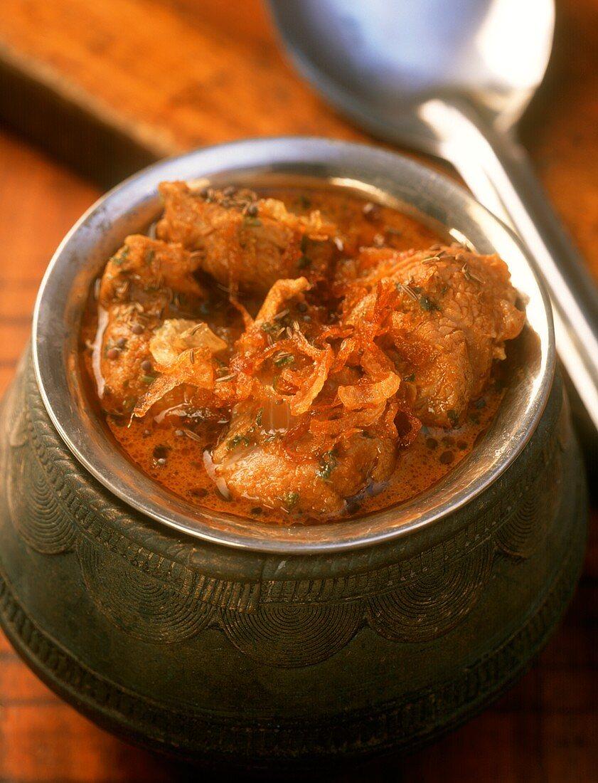 Achar korma (lamb stew), Andhra Pradesh, India