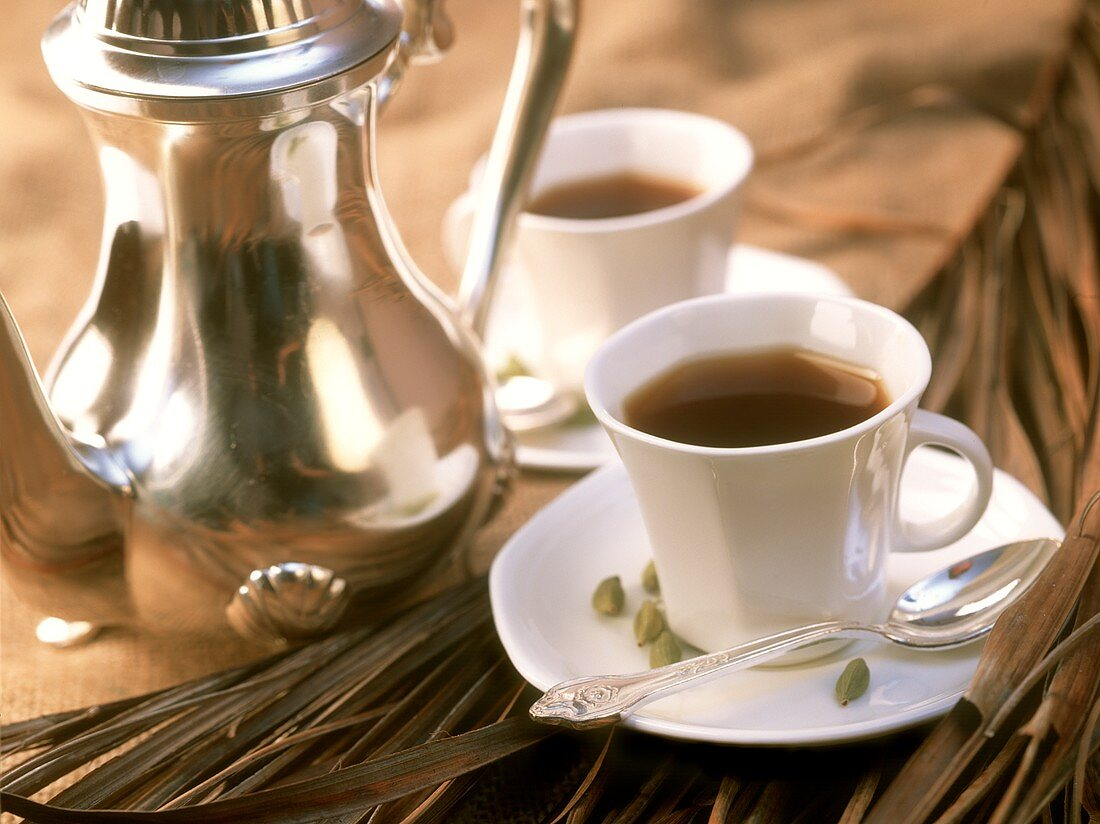Coffee with cardamom (speciality from Karnataka, India)