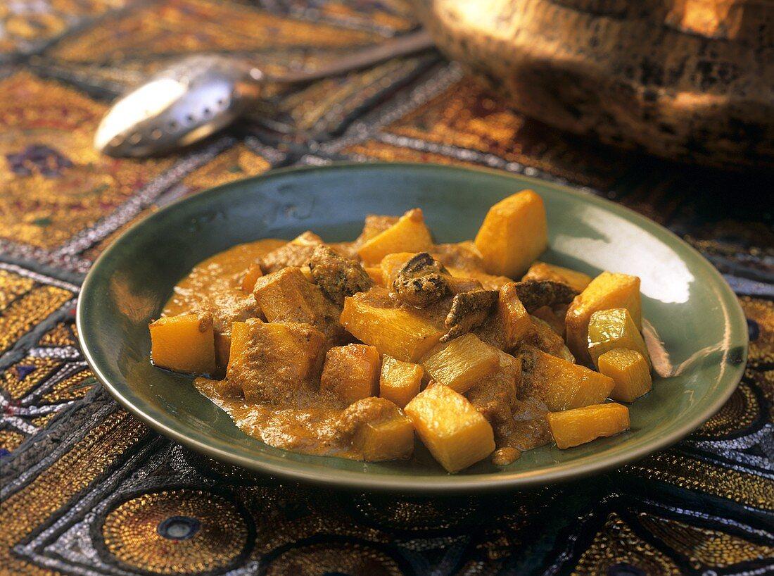 Suran ka salan (vegetable curry with yams, India)