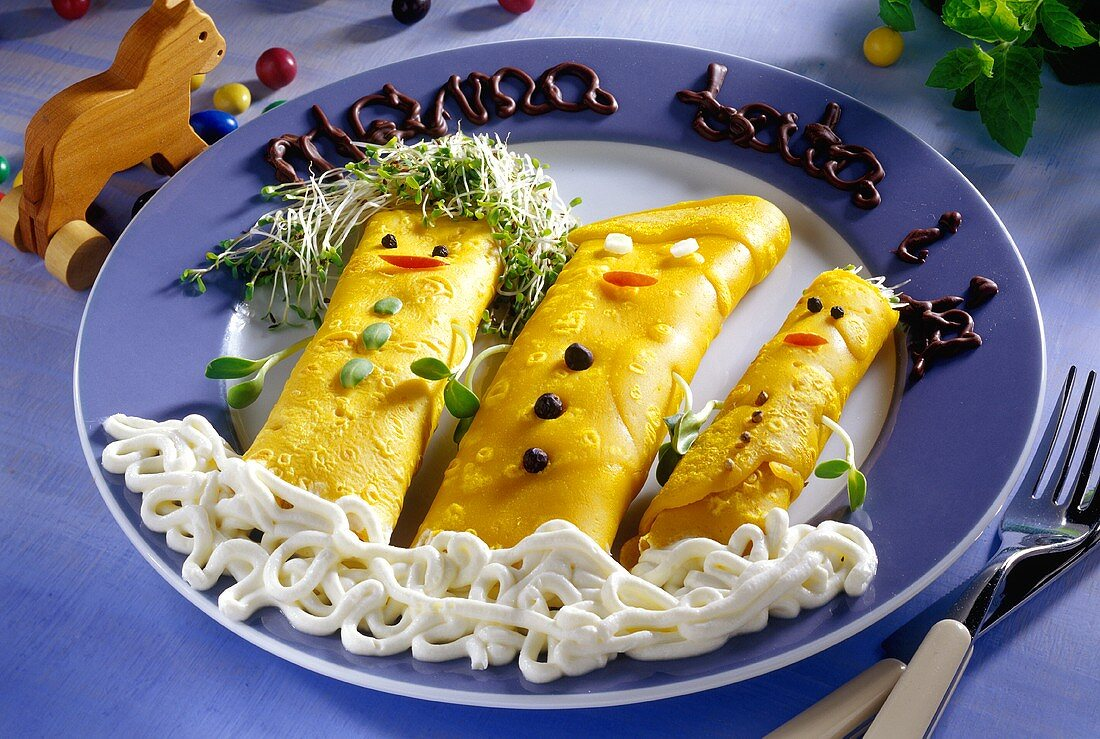 Savoury pancakes for children