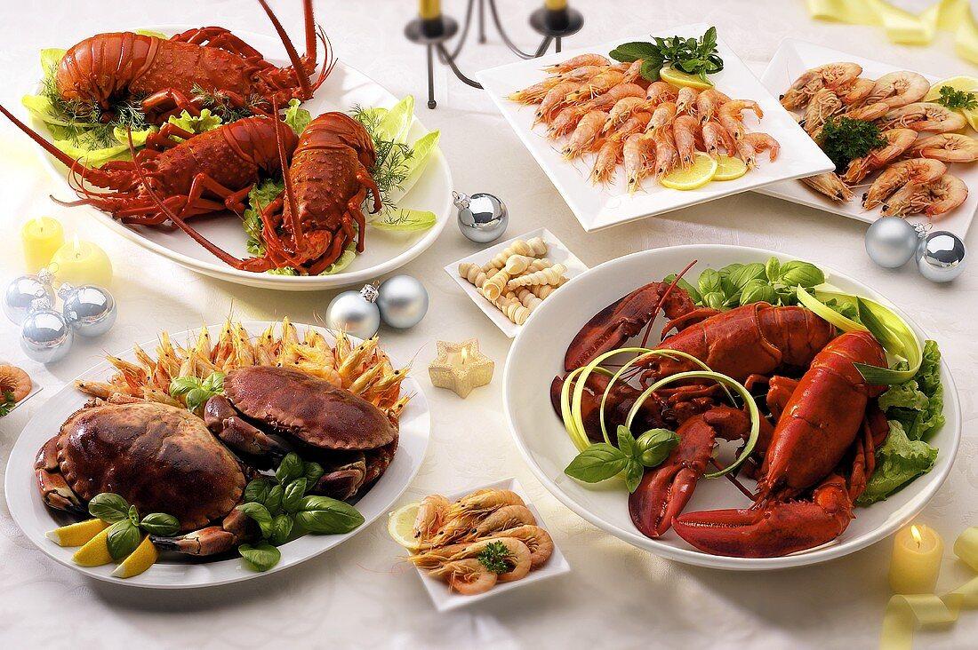 Shellfish dishes for Christmas