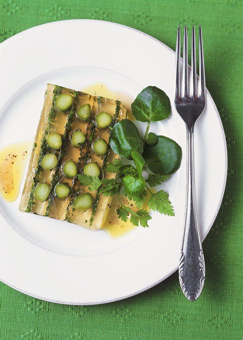 Asparagus terrine with herbs