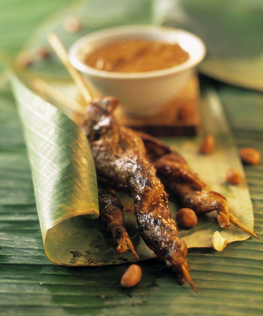Sate with peanut sauce