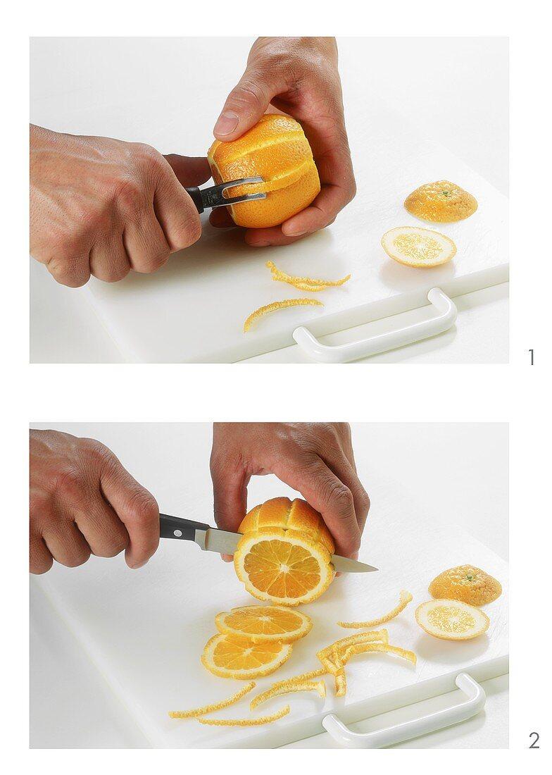 Cutting orange wheels