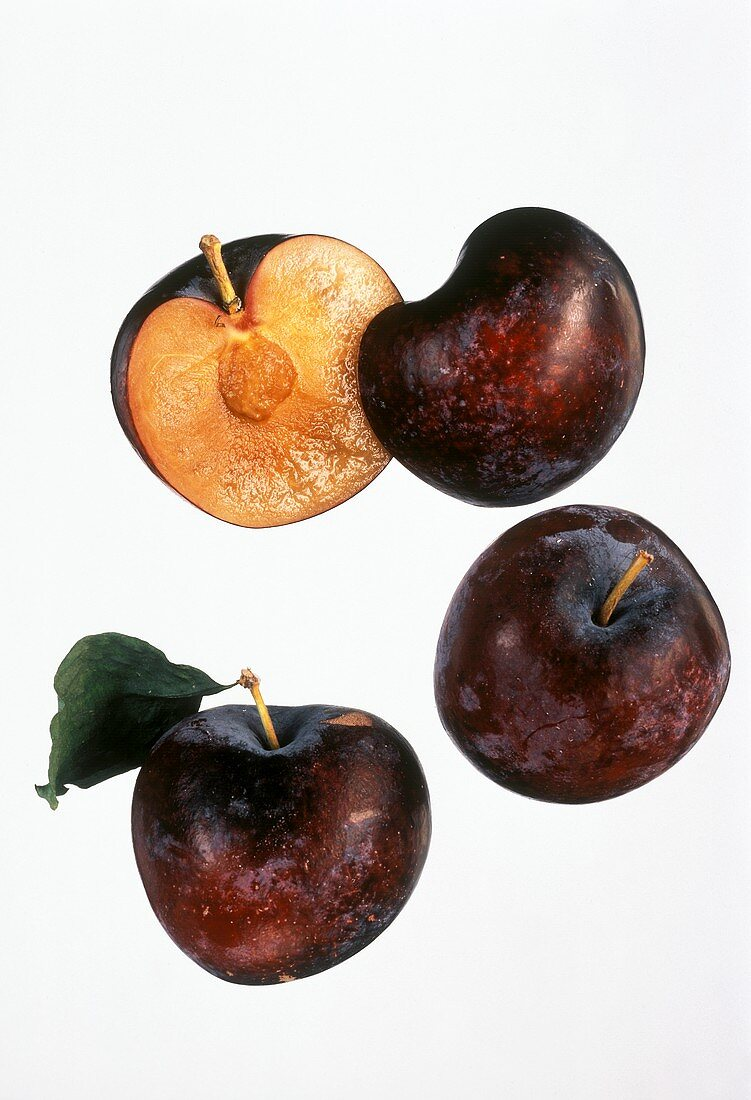 Two Whole and One Halved Plum