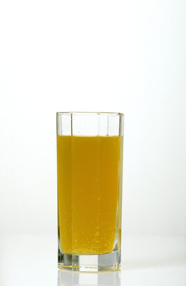 A glass of orangeade