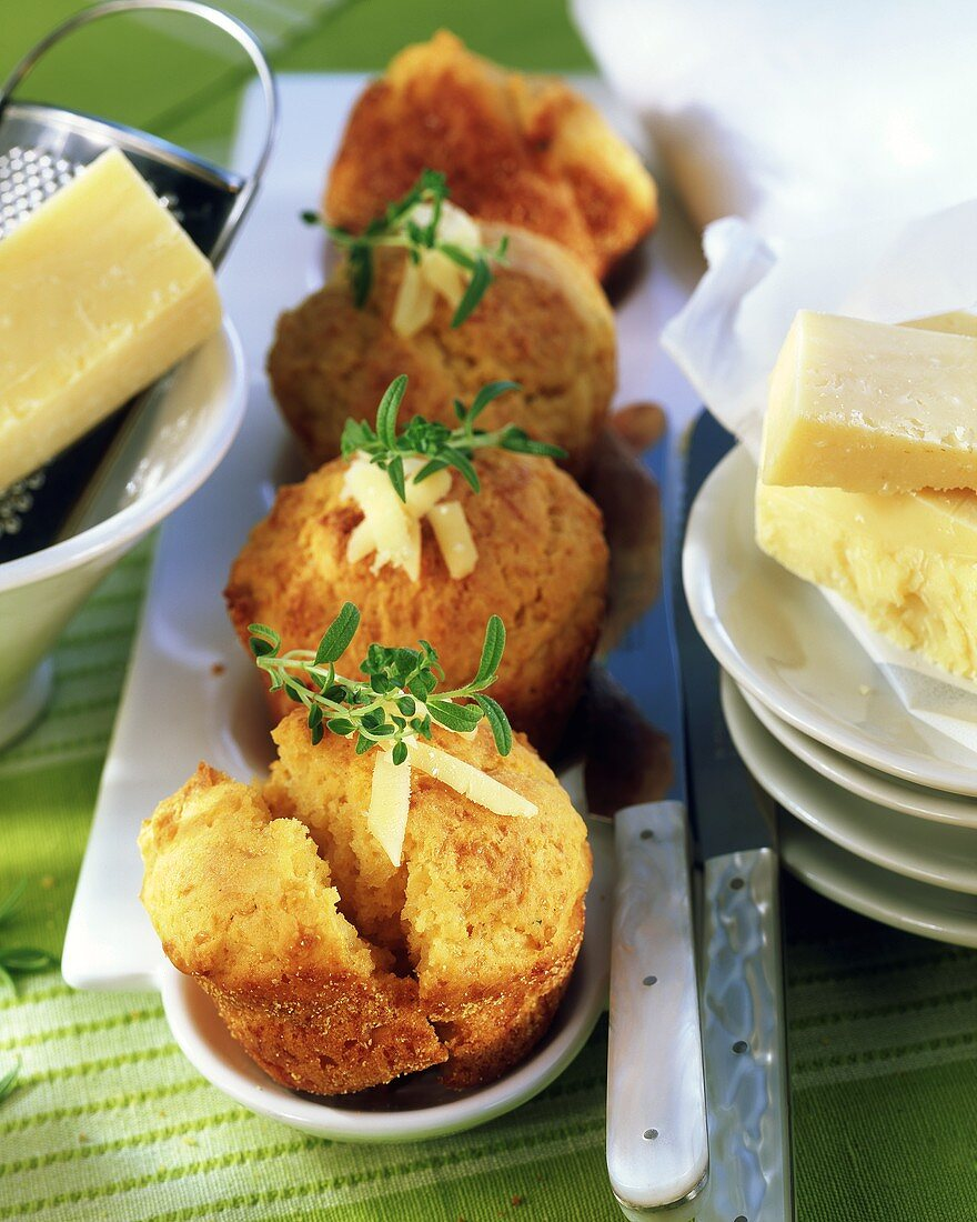 Savoury muffins with farmhouse cheese