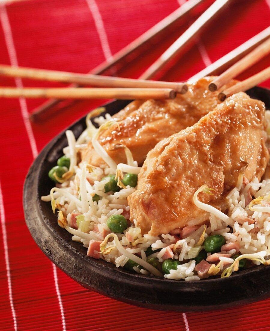 Chicken on rice (China)