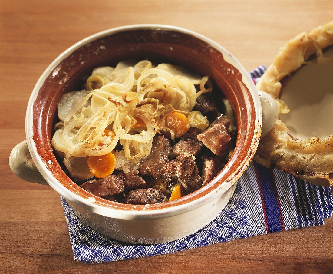 Baeckeoffe (meat and vegetable stew, Alsace, France)