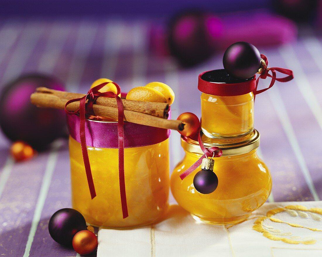 Pumpkin jam as Christmas gift