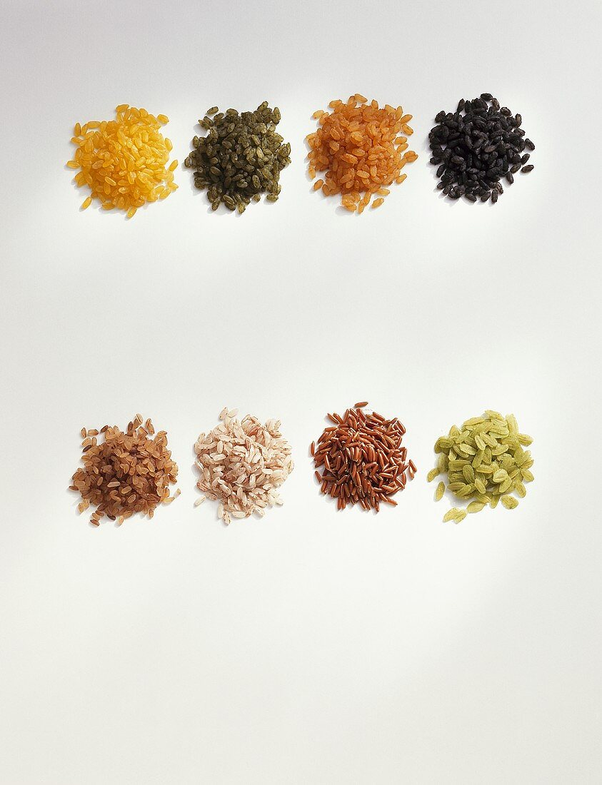 Unusual types of rice - parboiled, coloured and spiced