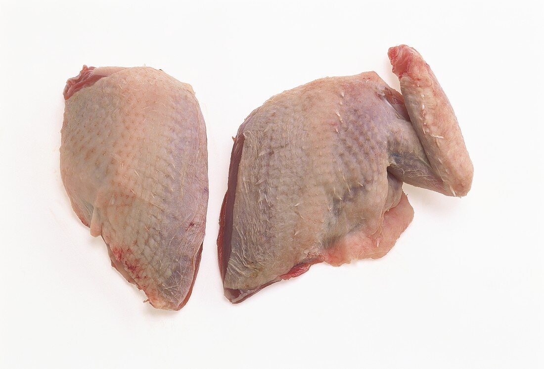 Pigeon breast with and without wing