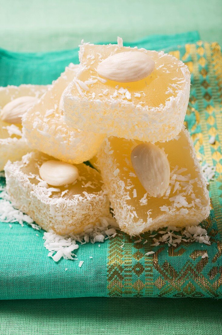 Turkish Delight with almonds and coconut