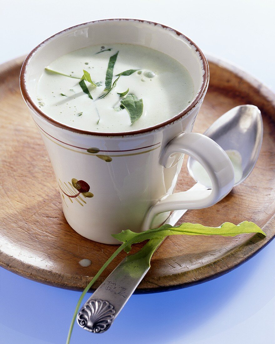 Sorrel cream soup from Baden-Württemberg, Germany