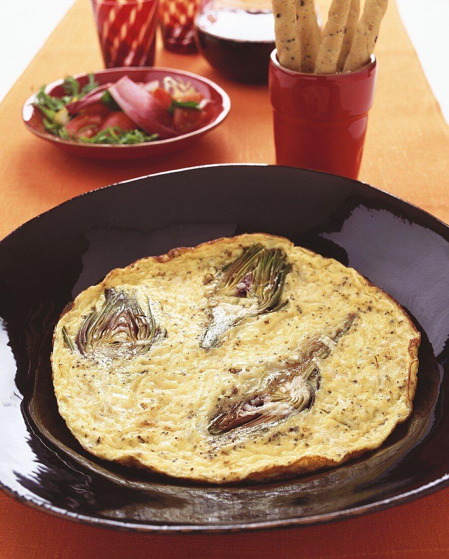 Frittata ai carciofi (Artichoke omelette, Italy)