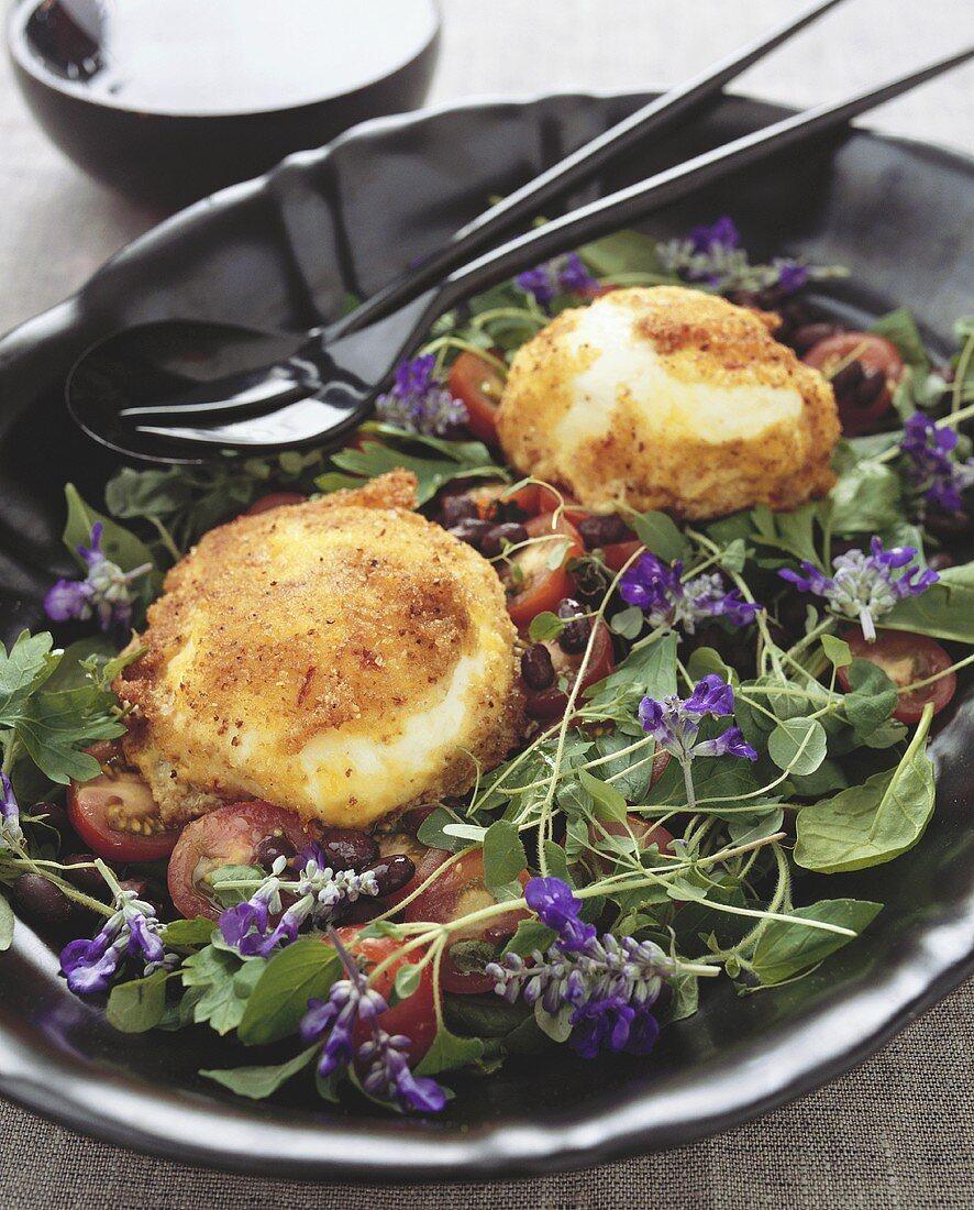 Mozzarelline allo zafferano (Mozzarella with saffron coating)