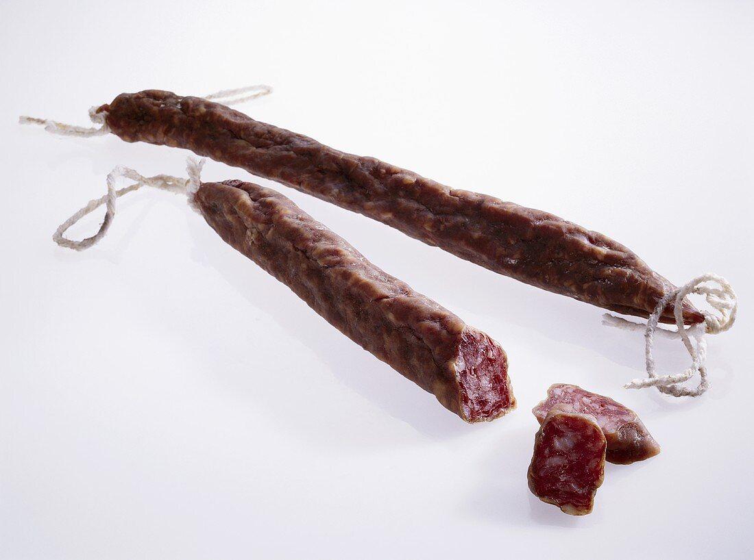 Fuet Casero Cataluna (hard cured sausage from Spain)
