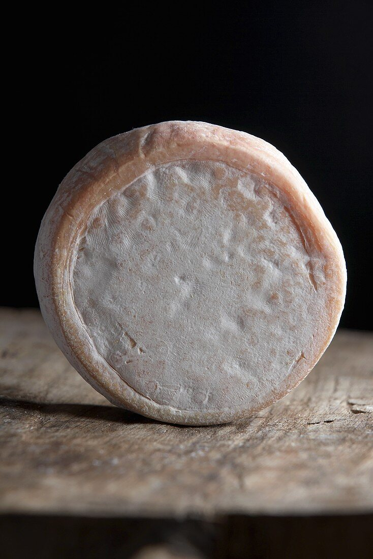 Pyrenean cheese on wooden background