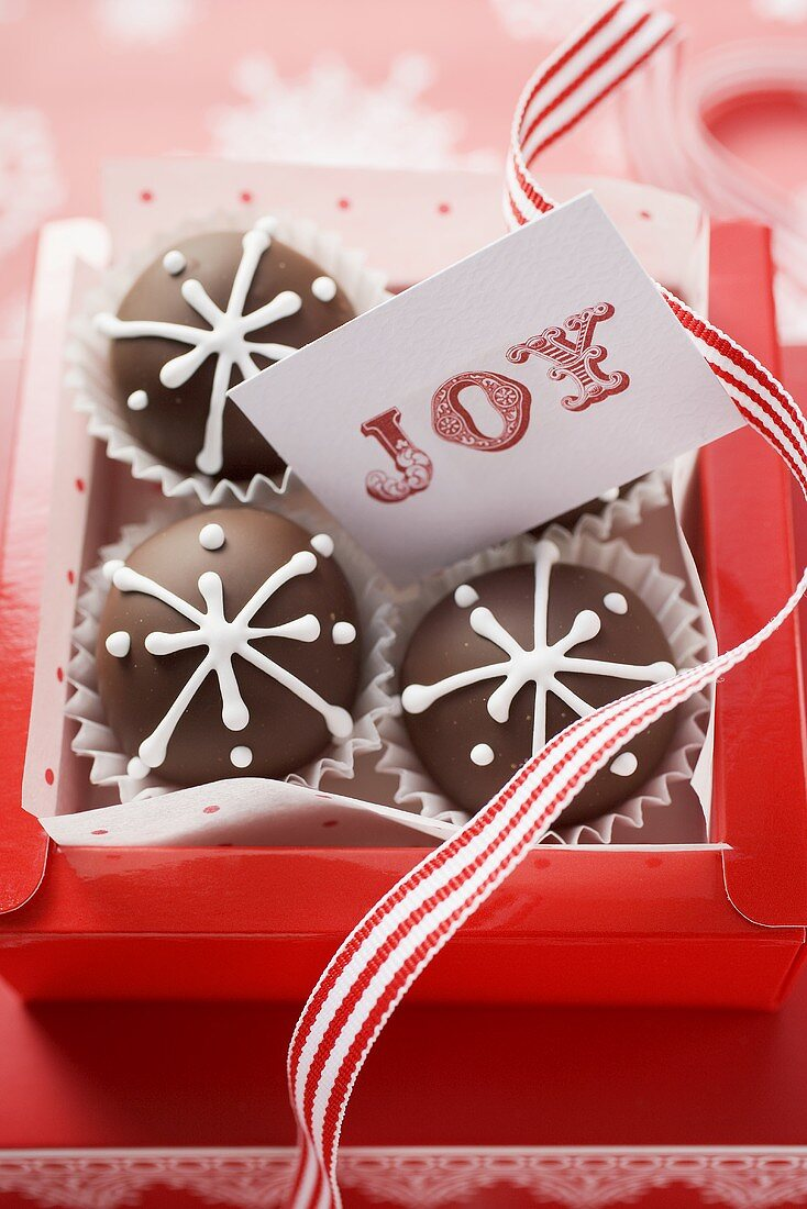 Chocolates with card to give as a gift (Christmas)