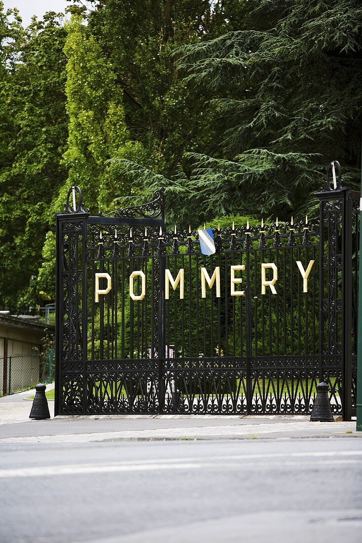 The gate to Pommery, Reims, Champagne, France