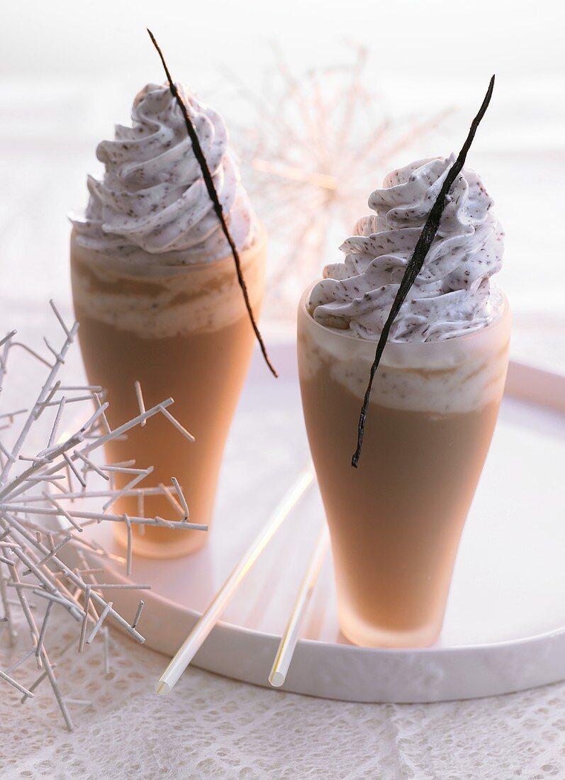 Christmas mocca shakes