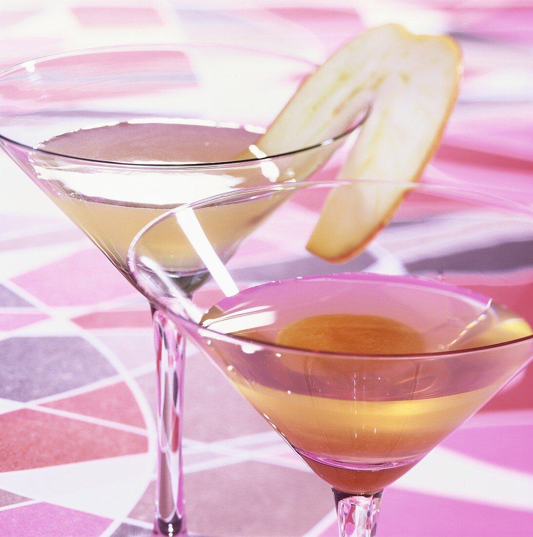 Hock Martini and Apple Martini