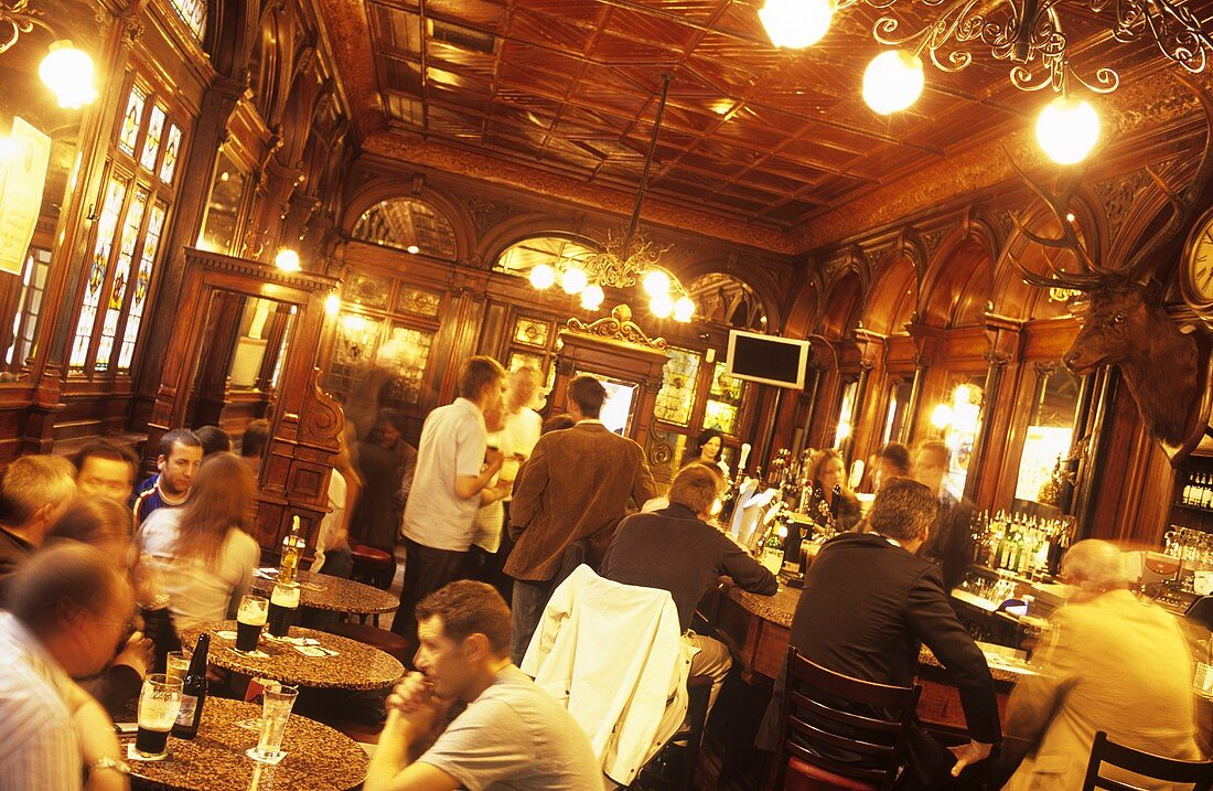 The Stag's Head, traditional pub in Dublin