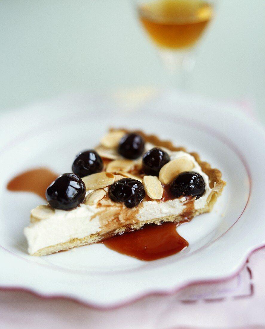 Crostata di ricotta e ciliege (Ricotta cherry tart, Italy)