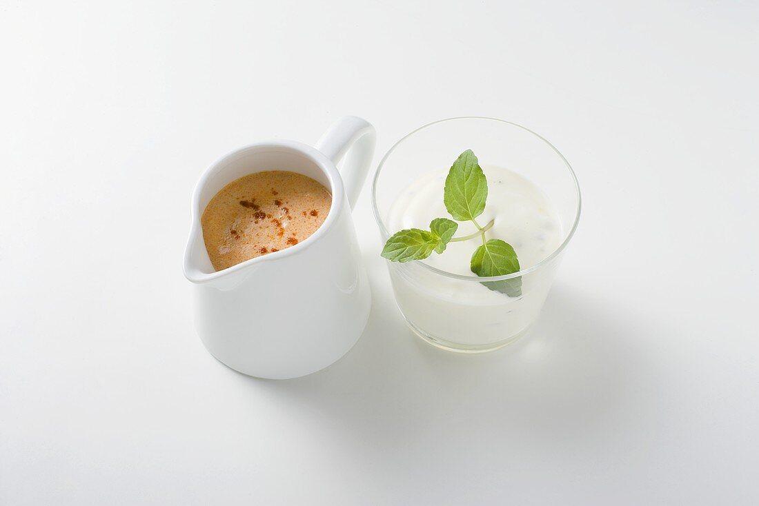 Yoghurt sauce with paprika