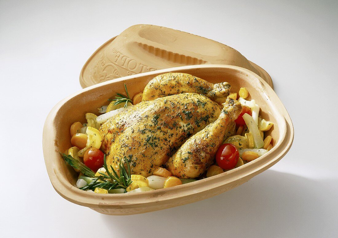 Chicken in clay pot