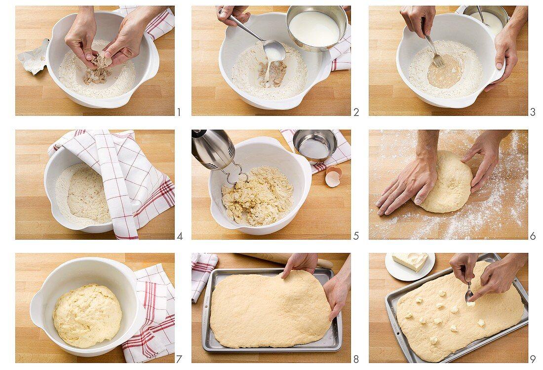Making yeast cake