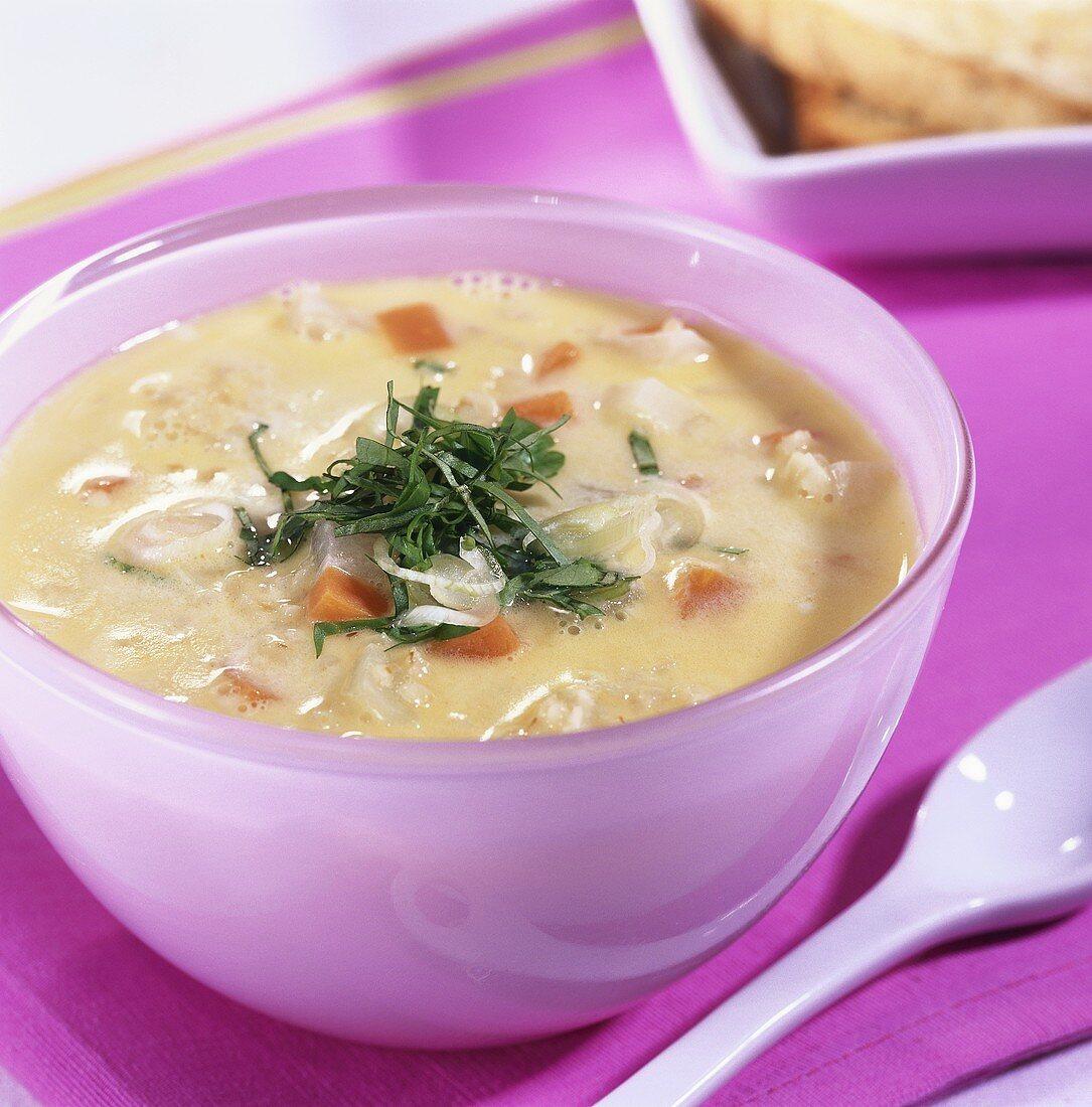 Roast Unripe Spelt Grain Soup
