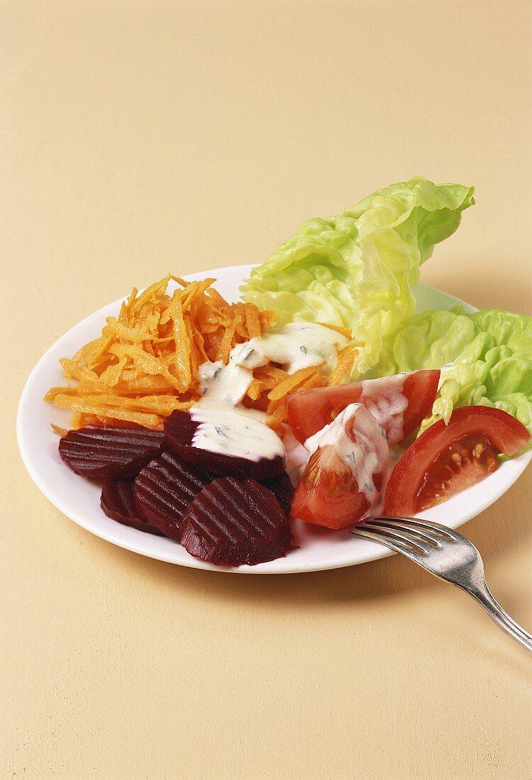 Mixed side salad