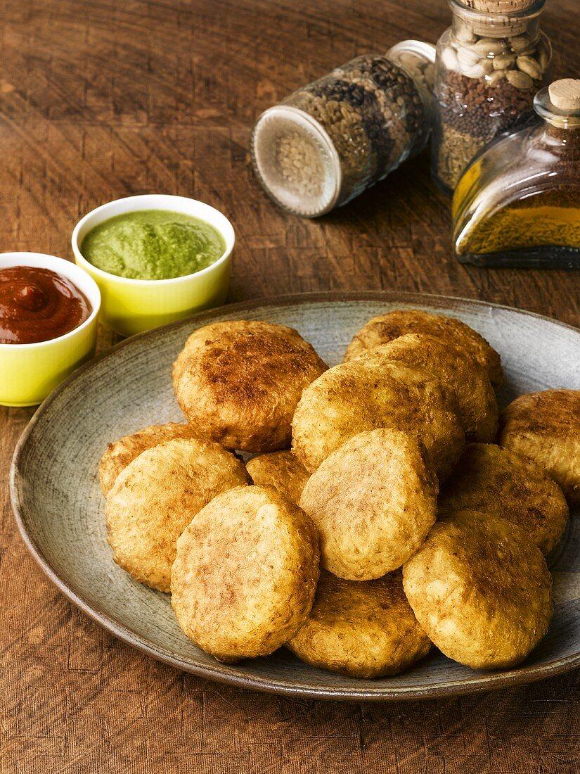 Aloo tikki (Indian potato cakes)