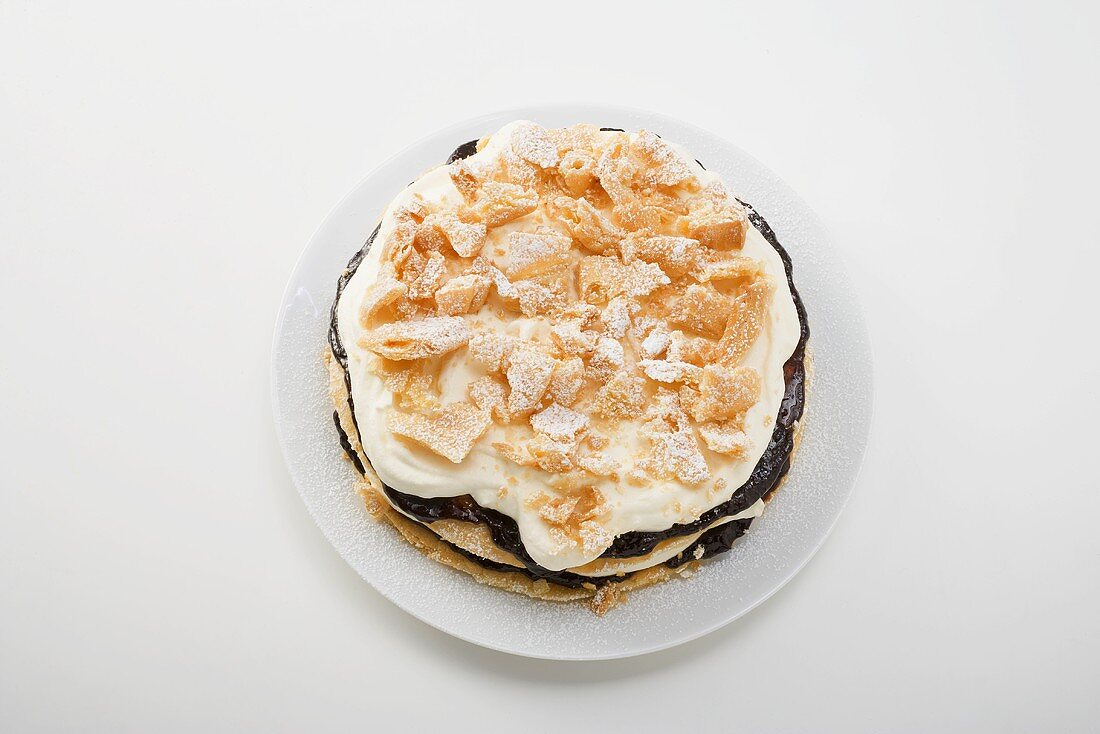 Flockentorte (Choux pastry cake)
