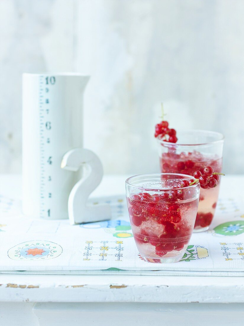 Coconut Cooler with redcurrants