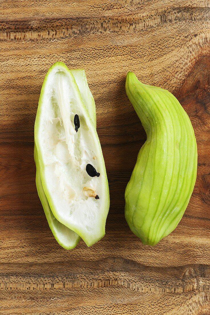 Caigua fruits (Cyclanthera pedata)