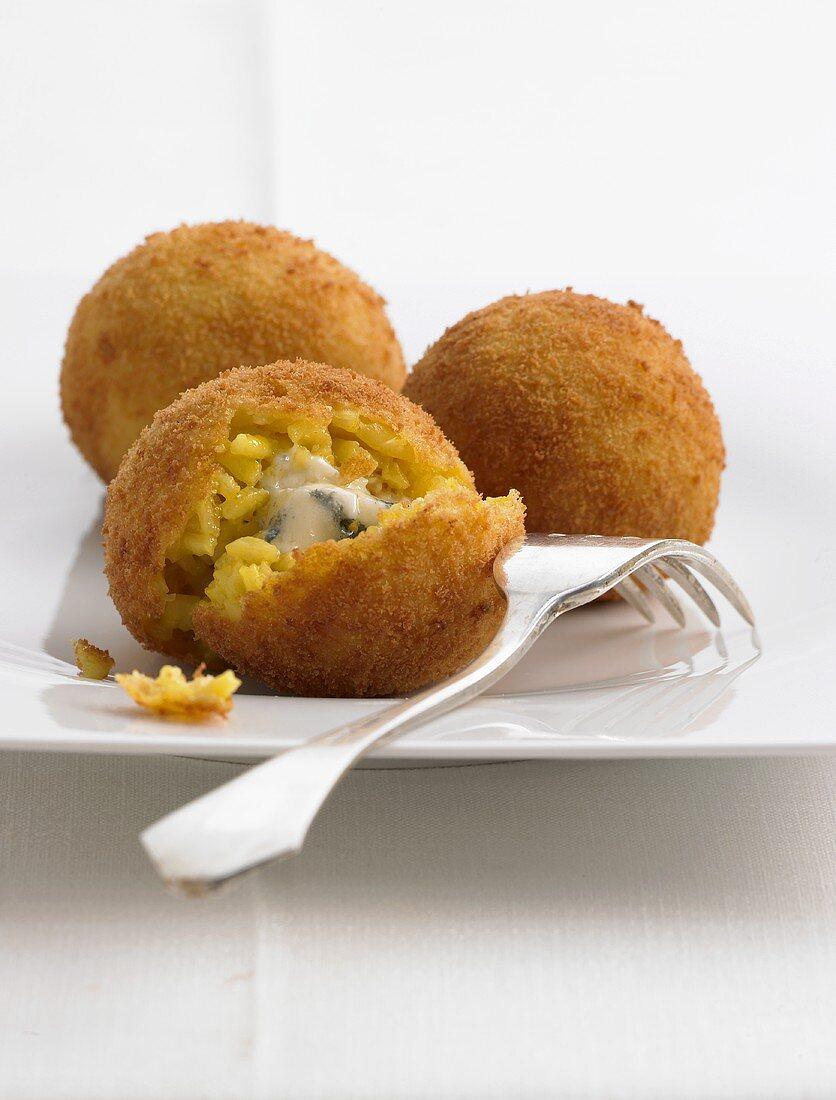 Arancini (deep-fried Italian rice balls)