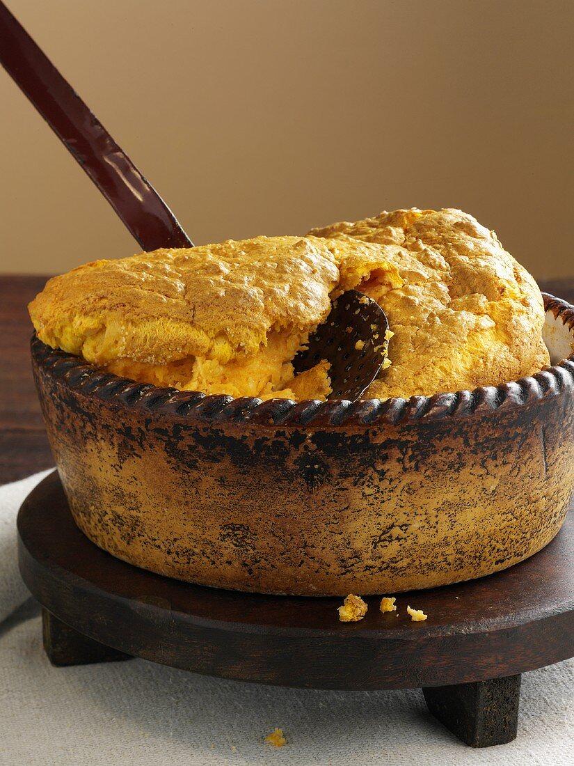 Pumpkin and cheese soufflé